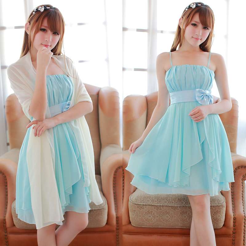 Looking chic and stylish with light aqua blue bridesmaid for Light blue dress for wedding