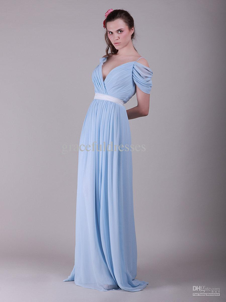 Light blue vintage chiffon bridesmaid dresscherry marry cherry marry light blue vintage chiffon bridesmaid dress ombrellifo Gallery
