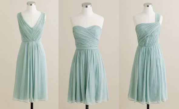 pale aqua blue bridesmaid dresses