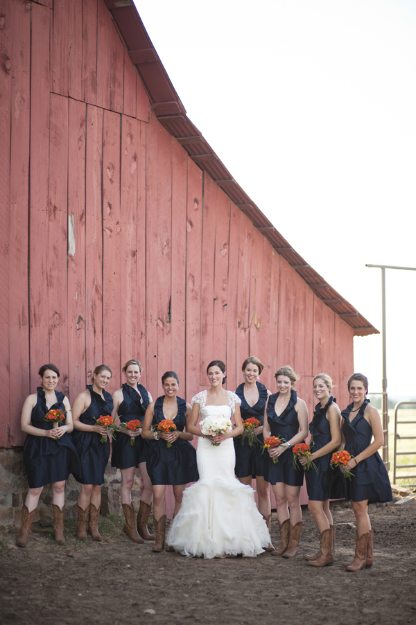 navy blue short bridesmaid dresses with cowboy boots