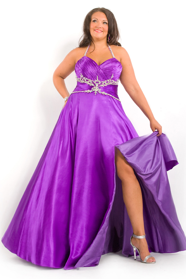 purple plus size dresses
