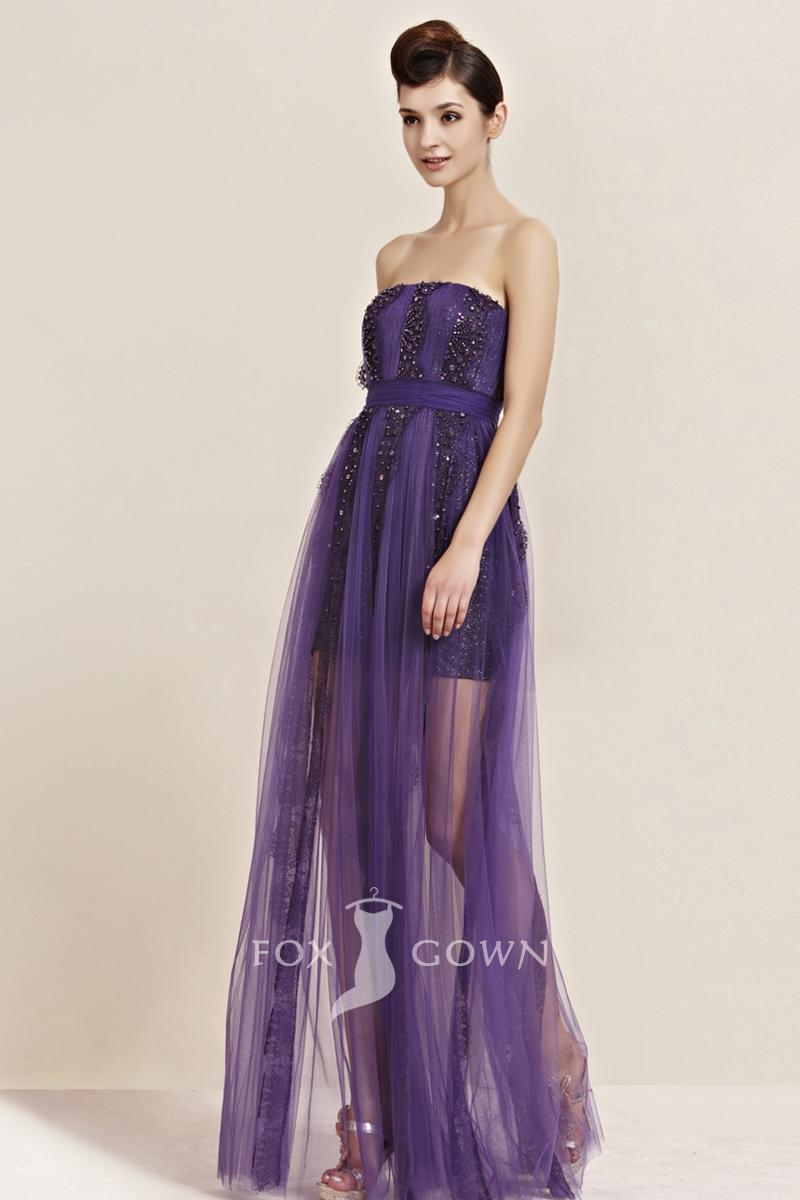 Purple lace bridesmaid dresses the for Purple lace wedding dress