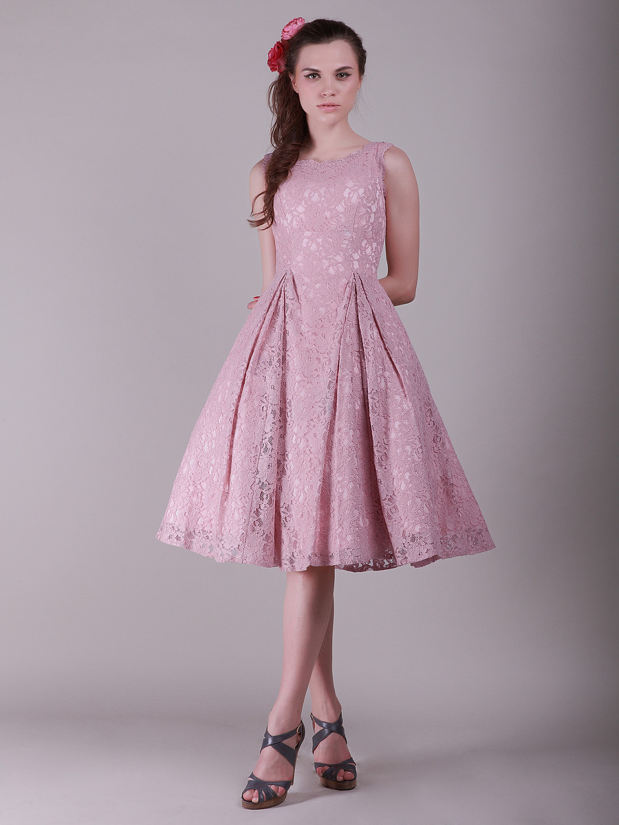 pink vintage lace bridesmaid dress
