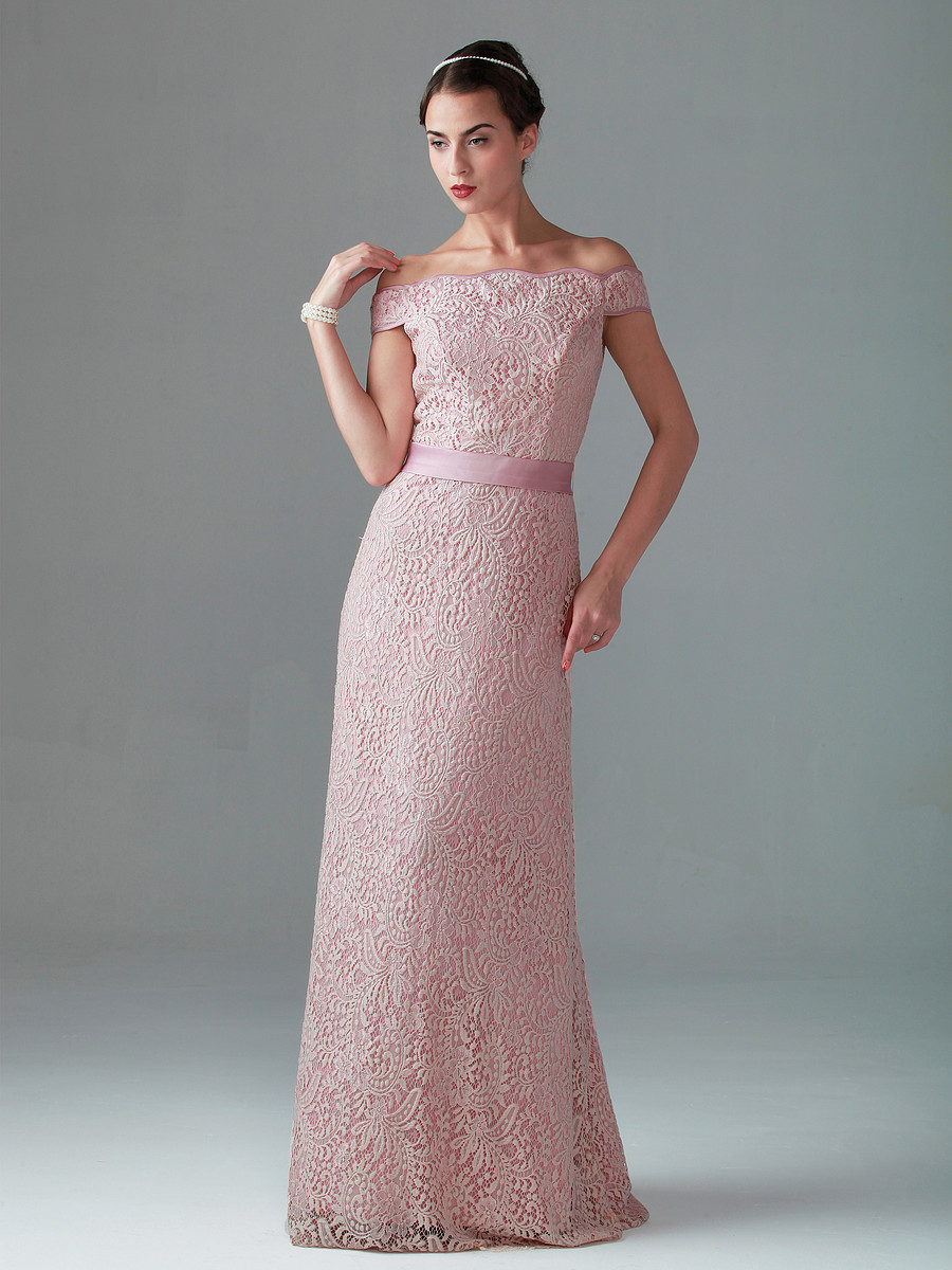 pink vintage lace bridesmaid dresses