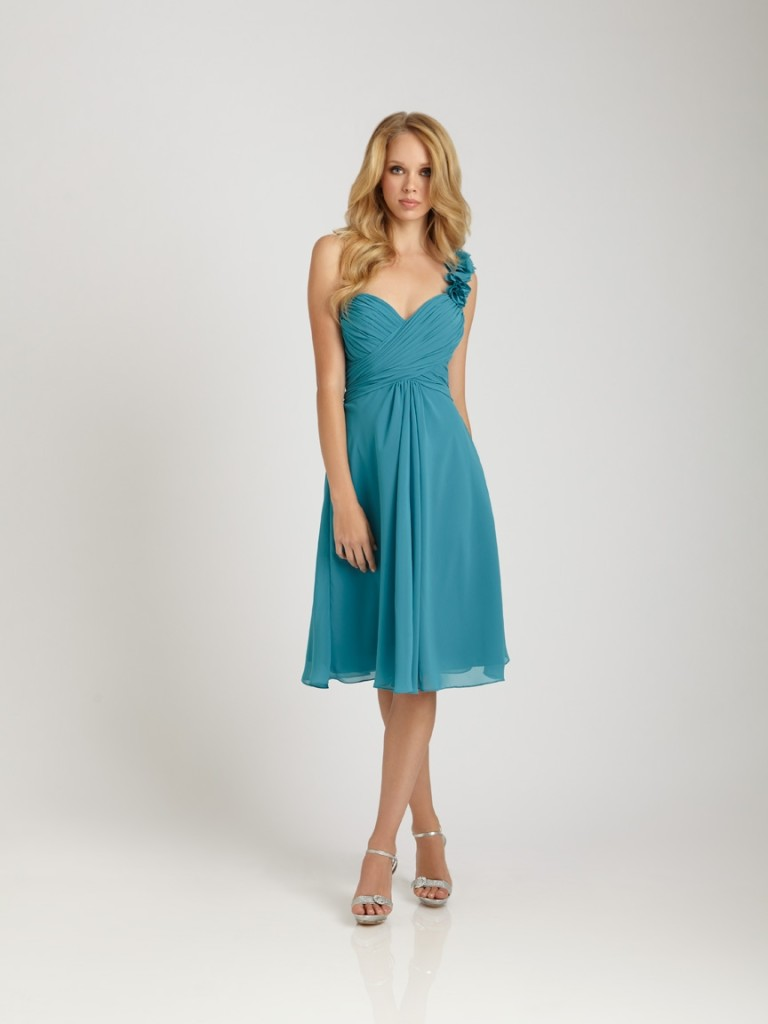 spring bridesmaid dress with knee length