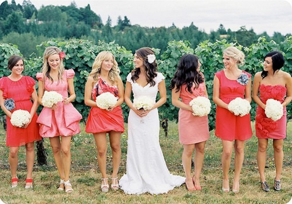 spring bridesmaid dresses with short length