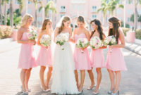 spring light pink bridesmaid dresses