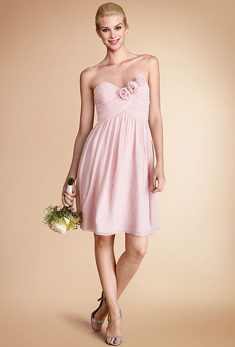 spring pink bridesmaid dress