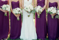 spring purple bridesmaid dresses