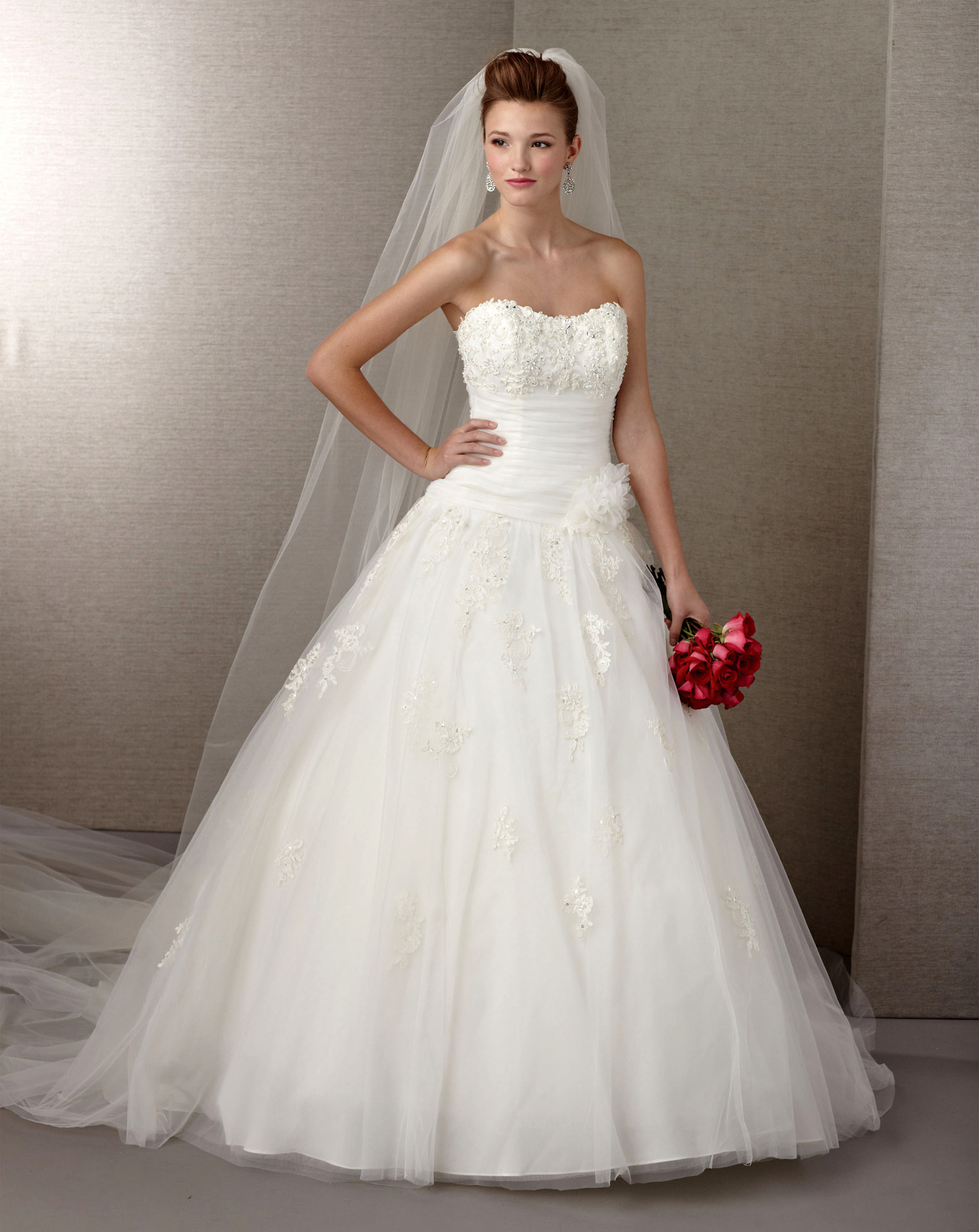 Wedding dress under 100 dollars with long veilcherry marry for Long wedding dresses under 100