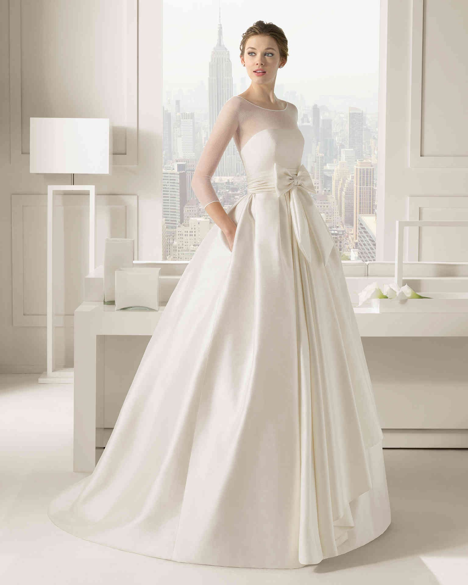 ball gown wedding dresses with 3 per 4 sleeves