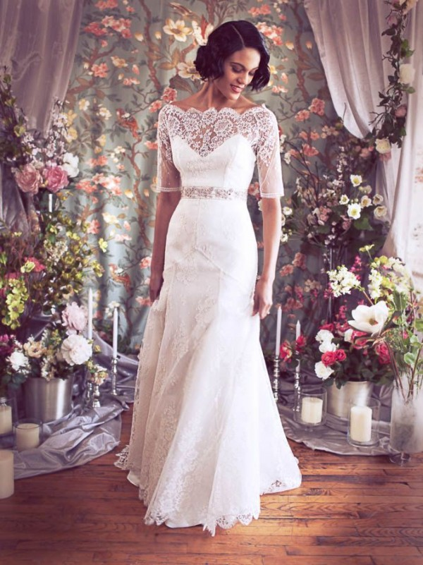 Simple Vintage Lace Wedding Dress : Simple lace vintage wedding dresses cherry marry