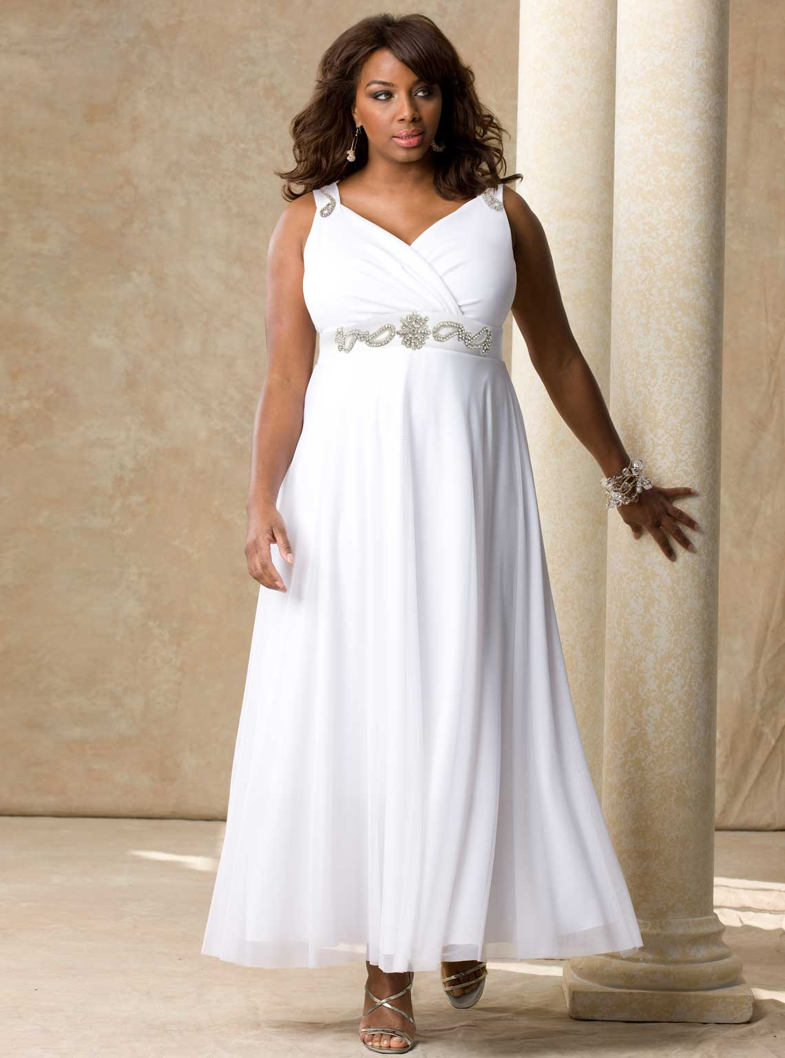 Simple plus size wedding dresses cherry marry for Simple wedding dresses under 200