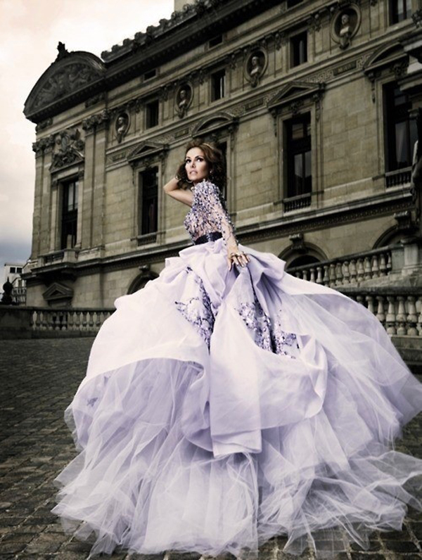purple colored wedding dresses