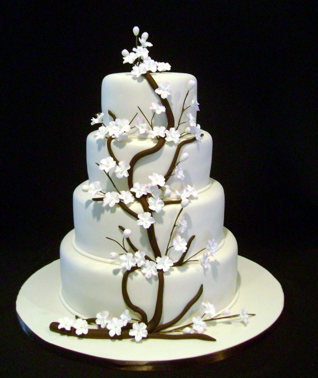 cake boss wedding cake with white flowers