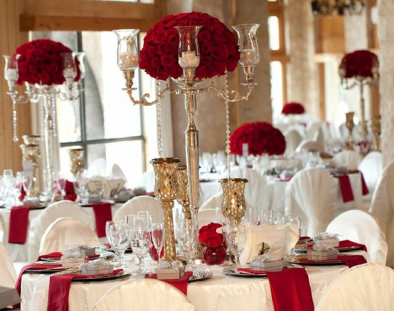 christmas wedding ceremony decoration ideas - Christmas Wedding Decorations Ideas