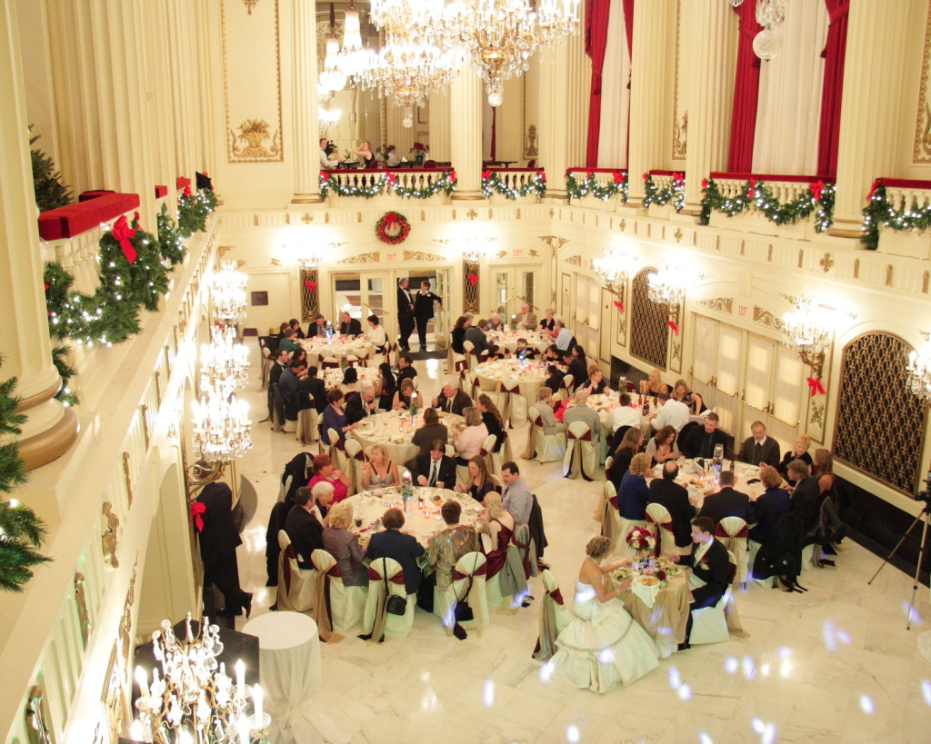 christmas wedding ceremony decoration