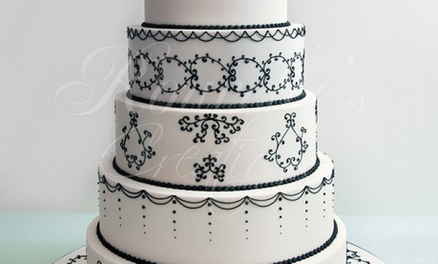 unique white black cake boss wedding cake
