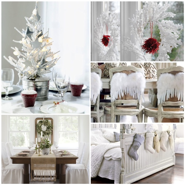 white christmas wedding decoration photos