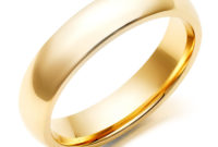 men's gold wedding ring with simple design