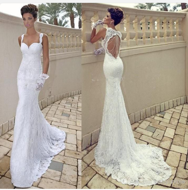 Backless beach wedding dresses cherry marry for Backless beach wedding dresses
