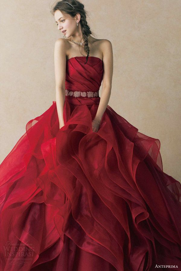 Amazing Red Wedding Dresses Cherry Marry