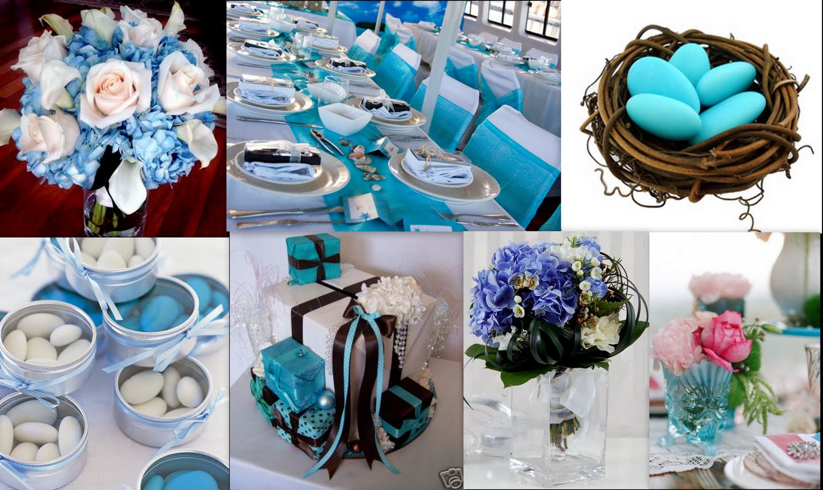 blue summer wedding themes