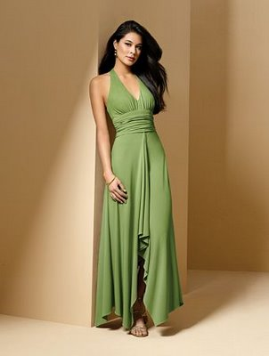 green sleeveless summer bridesmaid dress