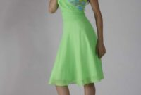 green summer bridesmaid dress