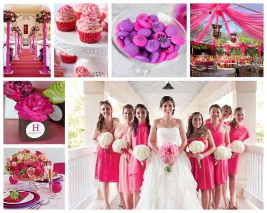ideas for pink summer wedding themes