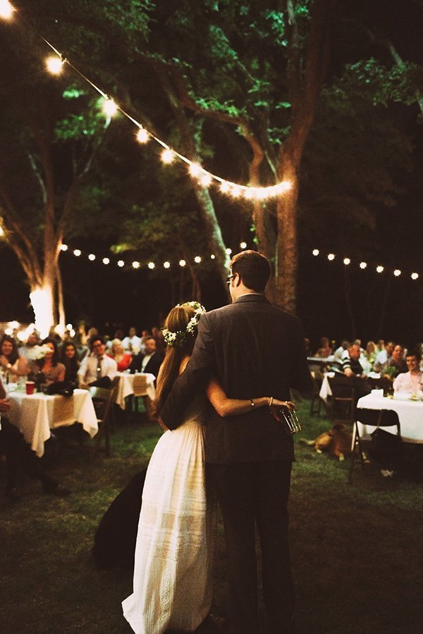 backyard wedding idea