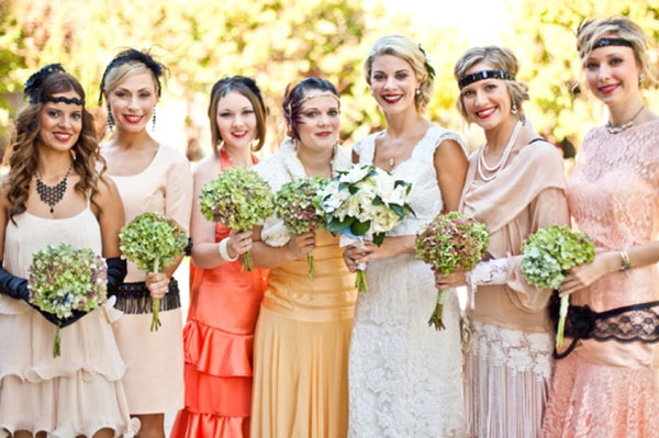 1920 bridesmaid dresses