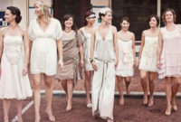 1920 short bridesmaid dresses