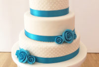 3 tier ivory wedding cake