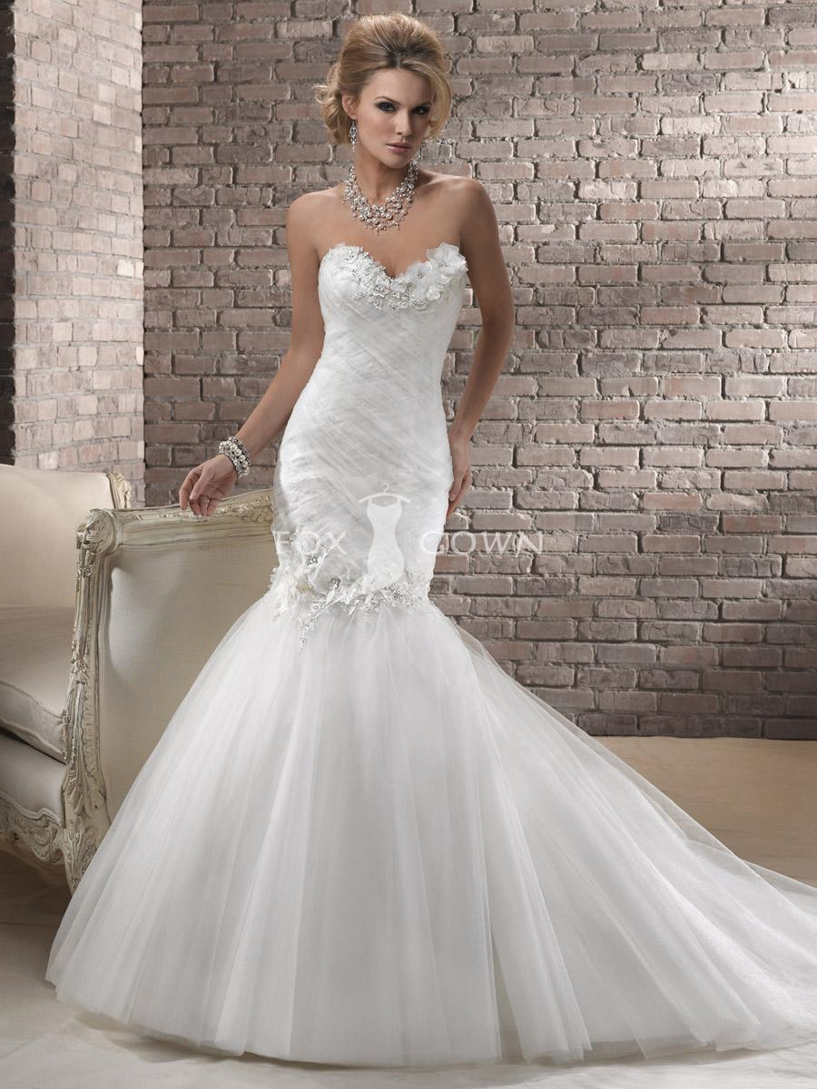 mermaid wedding dresses with sweetheart neckline mermaid wedding gowns mermaid sweetheart tulle wedding dress with crystals