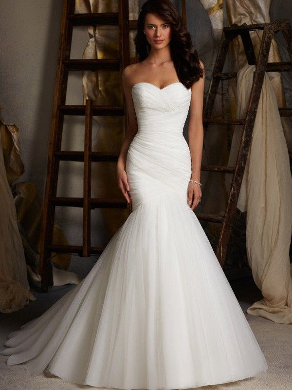 mermaid wedding dresses with sweetheart neckline