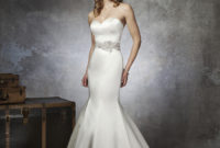 satin mermaid wedding dresses