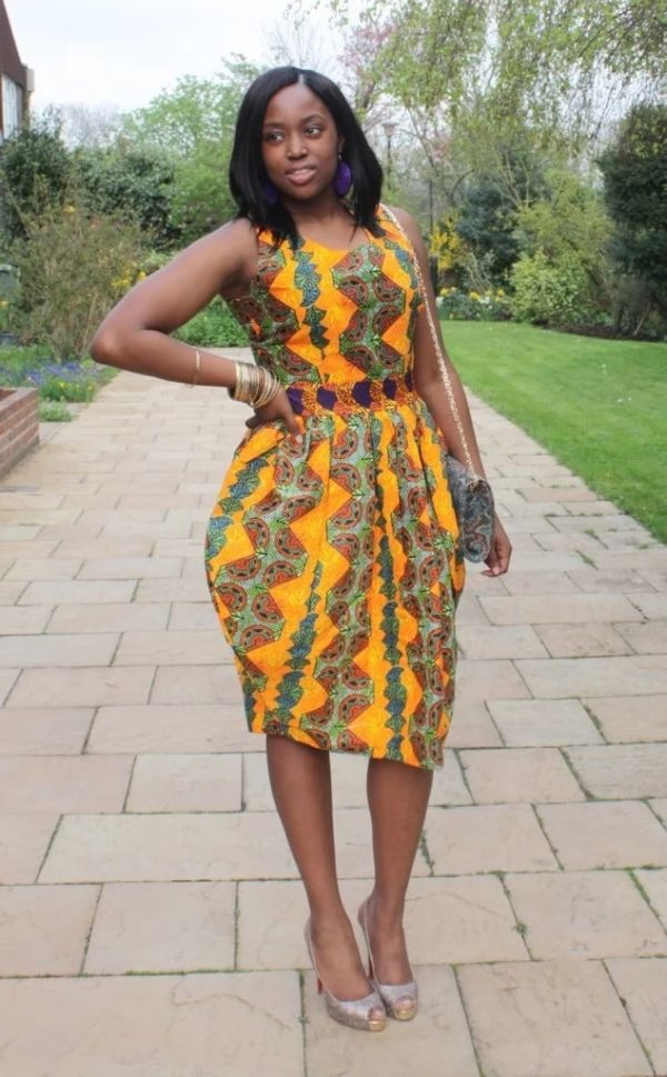 African Mermaid Wedding Guest Dress