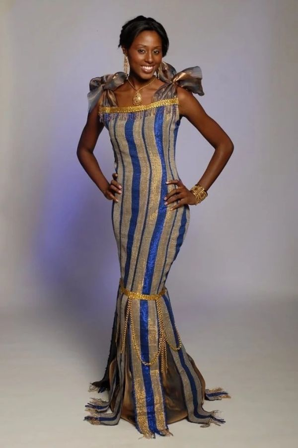 African Pleat Mid Wedding Guest Dress