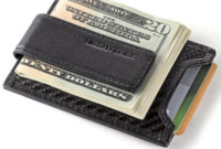 carbon money wallet with leather clip