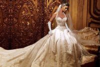 beautiful gold wedding dress