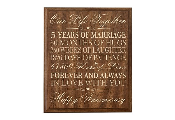 Unique 5th wedding anniversary gift ideas cherry marry for 5 year anniversary decorations