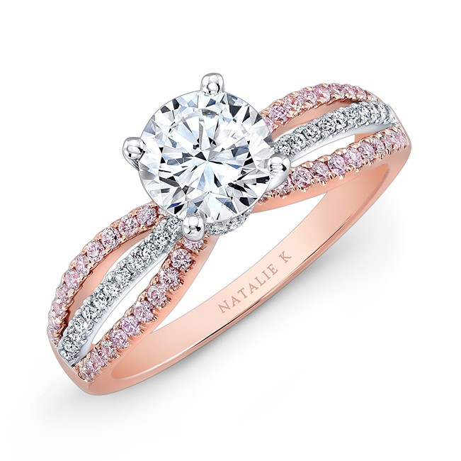 Gorgeous Rose Gold And White Gold Wedding Rings