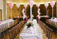 A Touch Of Spring At Every Table With Giant Pink Balloons
