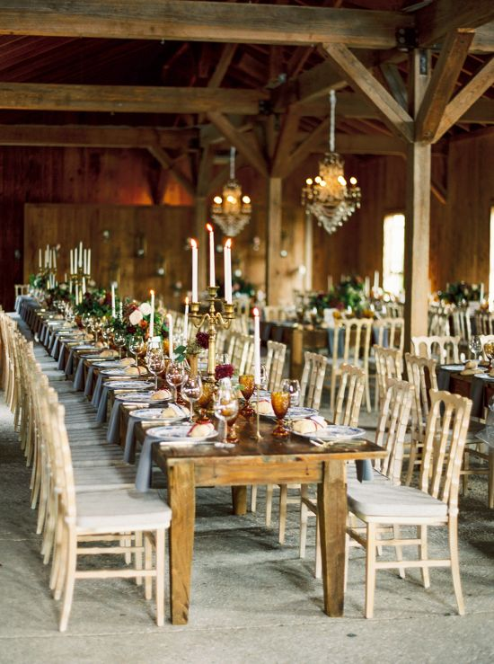 Wedding Candle Centerpieces In Gold Candelabras