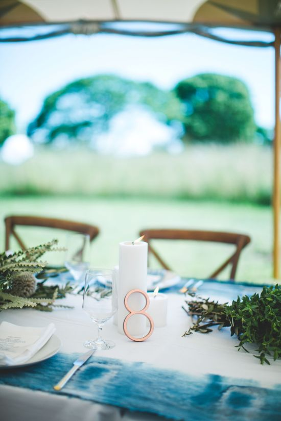 Wedding Candle Centerpieces With Number 8 Beside