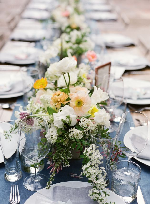Wedding Flower Centerpiece Ideas With Tulips Plus Lilacs And Daffodils