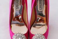Badgley Mischka Hot Pink Wedding Shoes