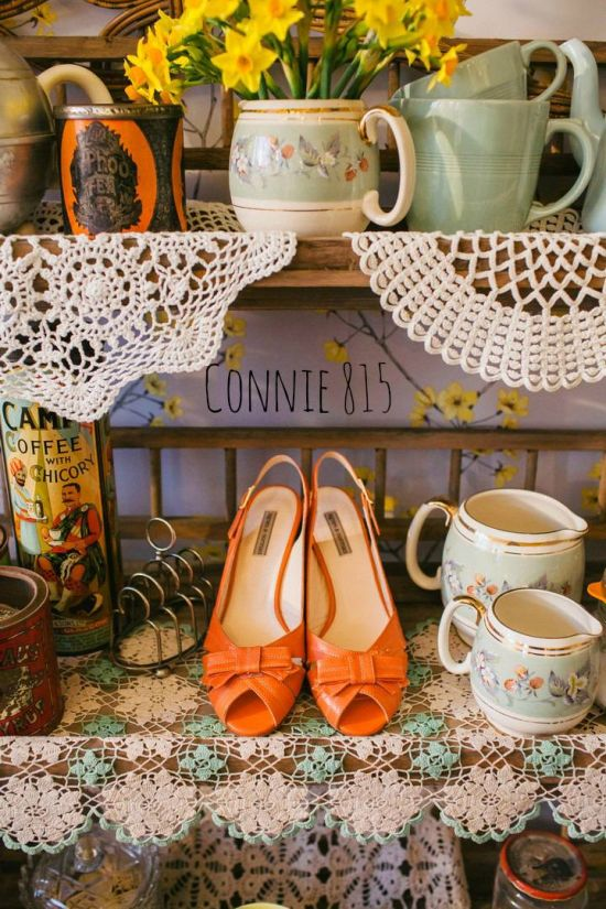 Vintage Inspired Wedding Shoes By Agnes And Norman Connie 815