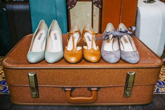 Vintage Inspired Wedding Shoes By Agnes And Norman